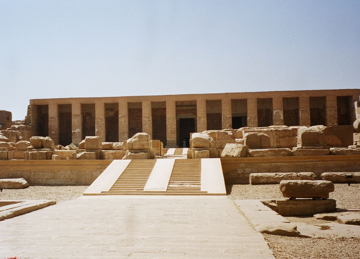 Abydos temple courtyard